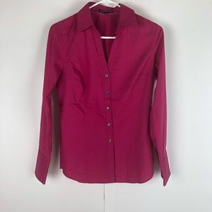 Women's Express button up, hot pink, size M, NWOT